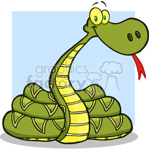 5123-Snake-Cartoon-Character-Royalty-Free-RF-Clipart-Image photo. Royalty-free photo # 386346