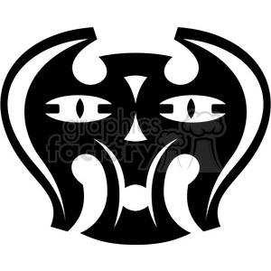 tribal masks vinyl ready art 009 clipart. Commercial use image # 386416