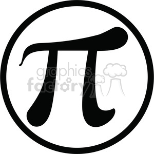 pi with circle clipart. Royalty-free image # 386452