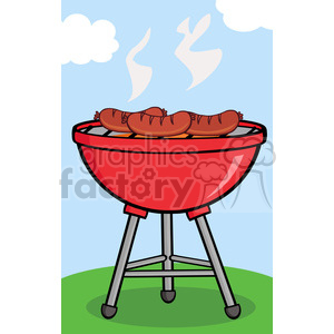 Clipart Grilled Sausages On Barbecue clipart. Royalty-free image # 386532