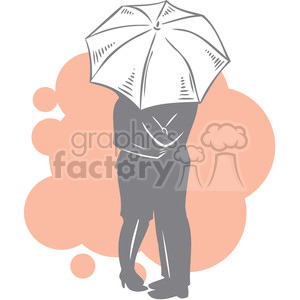 couple sharing an umbrella clipart. Royalty-free image # 386631
