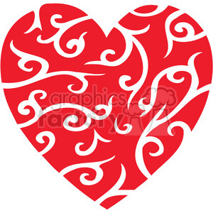 red stylized heart clipart. Royalty-free image # 386671