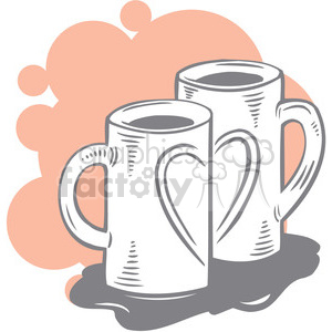 two cups of coffee clipart. Commercial use image # 386681