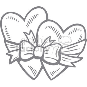 two hearts drawing clipart. Commercial use image # 386691