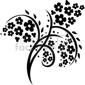 Chinese swirl floral design 056 clipart. Commercial use image # 386729