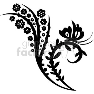 Chinese swirl floral design 026 clipart. Commercial use image # 386739