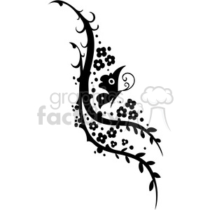 Chinese swirl floral design 022 clipart. Commercial use image # 386779