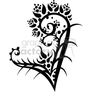 Chinese swirl floral design 021 clipart. Commercial use image # 386789