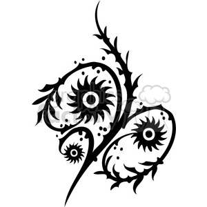 Chinese swirl floral design 082 clipart. Royalty-free image # 386809
