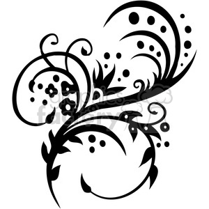 Chinese swirl floral design 012 clipart. Commercial use image # 386819