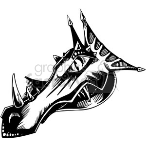 dragon head clipart. Royalty-free image # 387110
