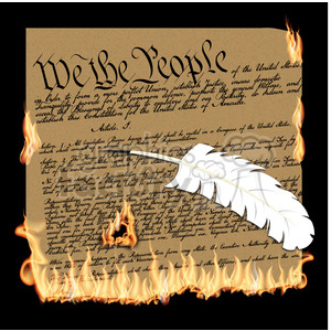 we the people constitution burning illustration clipart. Royalty-free image # 387170