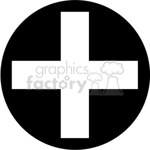 black circle addition sign clipart animation. Royalty-free animation # 387180