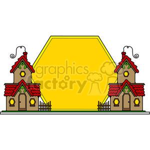 Cottages Sunset Sign color