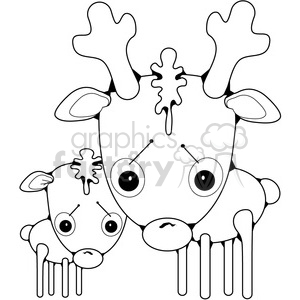 Deer Two clipart. Royalty-free image # 387230