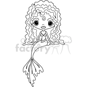 Girl Doll Mermaid clipart. Commercial use image # 387240