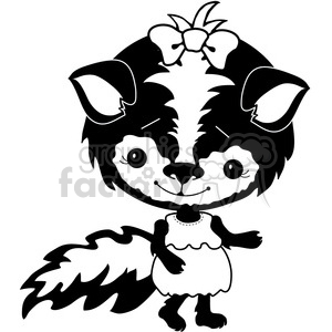 Skunk 2 clipart. Commercial use image # 387280