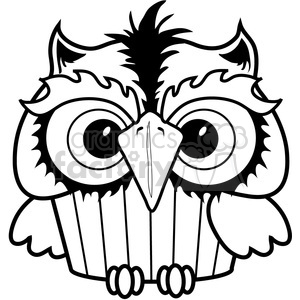 Cupcake Owl clipart. Commercial use image # 387320