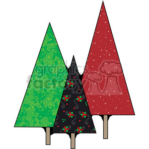 Christmas Trees 4 clipart. Royalty-free image # 387352
