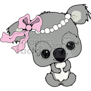 baby koala bear in color clipart. Royalty-free image # 387412