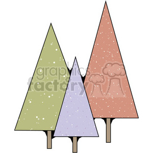 Christmas Trees 5 clipart. Commercial use image # 387417