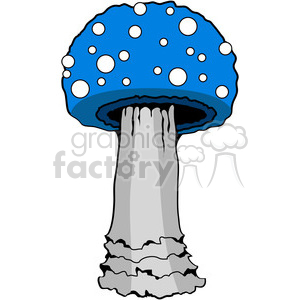 Mushroom 03 blue clipart. Commercial use image # 387428