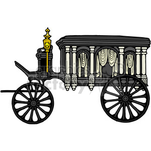 Antique Hearse clipart. Commercial use image # 387439