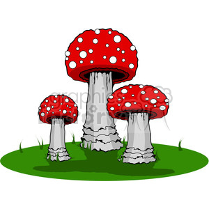 red Mushroom Group clipart. Commercial use image # 387481