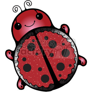 LadyBug Colored clipart. Commercial use image # 387392