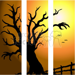 Halloween Sunset clipart. Royalty-free image # 387509