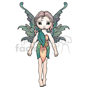 girl fairy character clipart. Royalty-free image # 387529
