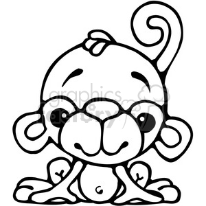 Monkey Sitting clipart. Commercial use image # 387559