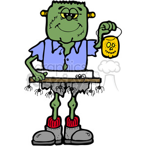 SMORE Frankenstein in color clipart. Commercial use image # 387569