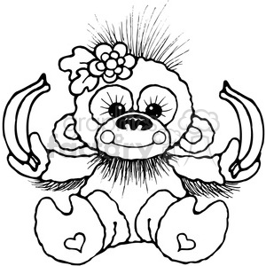007 Banana Chimp clipart. Royalty-free image # 387591