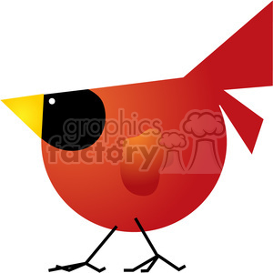 Red Cardinal 01 clipart. Royalty-free image # 387640