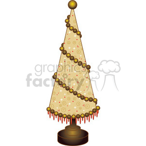 Christmas Tree Cone 01 clipart clipart. Royalty-free image # 388032