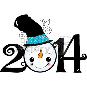 2014 snowman winter clipart clipart. Royalty-free image # 388052