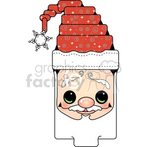 Santa-Head clipart. Commercial use image # 388059