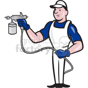 painter spray paint gun front clipart. Royalty-free image # 388105