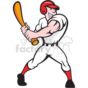 baseball player batting side clipart. Royalty-free image # 388165
