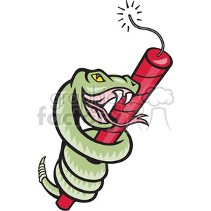 snake rattle dynamite clipart. Royalty-free image # 388205
