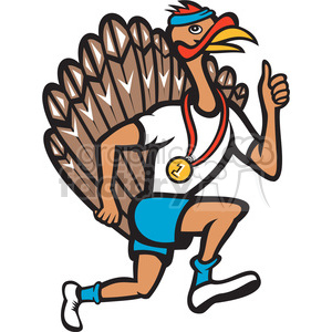 turkey runner side right clipart. Royalty-free image # 388275