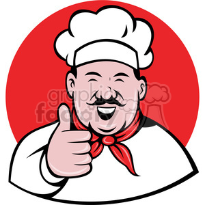 chef giving a thumbs up clip art clipart. Royalty-free image # 388375