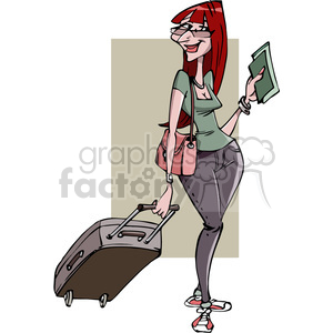 female tourist on vacation clipart. Royalty-free image # 388423