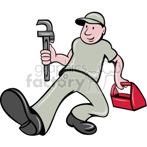 plumber wrench toolbox clipart. Royalty-free image # 388443