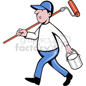 painter character clipart. Commercial use image # 388453