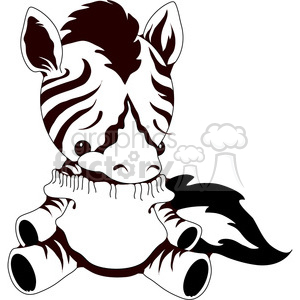 Stuffed Zebra clipart. Royalty-free image # 388543