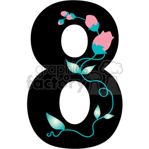 Number 8 Girly clipart. Royalty-free image # 388593