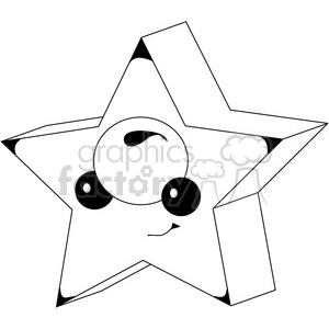Cube Star clipart. Royalty-free image # 388613