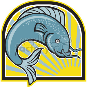 catfish grey fish clipart. Royalty-free image # 388633